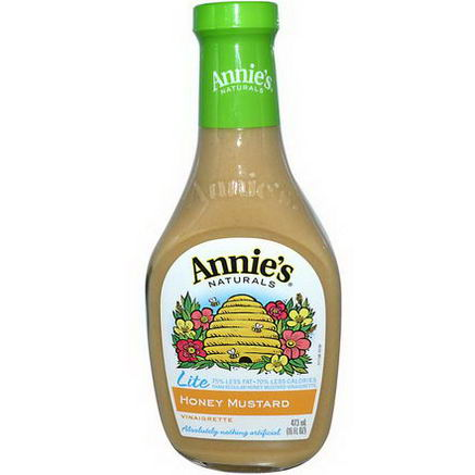 Annie's Naturals, Lite, Honey Mustard Vinaigrette, 16 fl oz (473 ml)