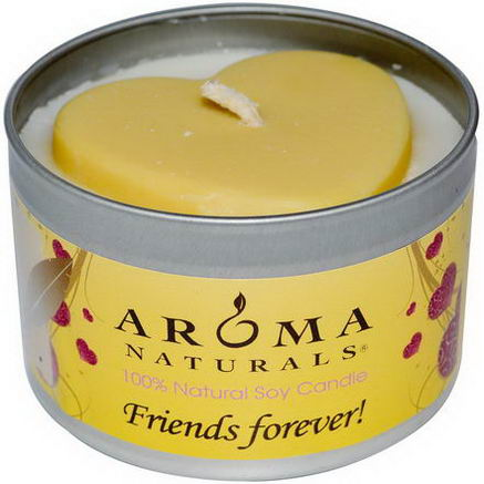 Aroma Naturals, 100% Natural Soy Candle, Friends Forever, 6.5oz