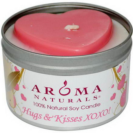 Aroma Naturals, 100% Natural Soy Candle, Hugs & Kisses XOXO, 6.5oz