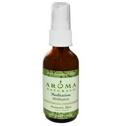 Aroma Naturals, Aromatic Mist, Meditation, Patchouli & Frankincense, 2 fl oz (59 ml)