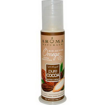 Aroma Naturals, Soft Whipped Pure Cocoa Butter Creme, 5oz (142g)