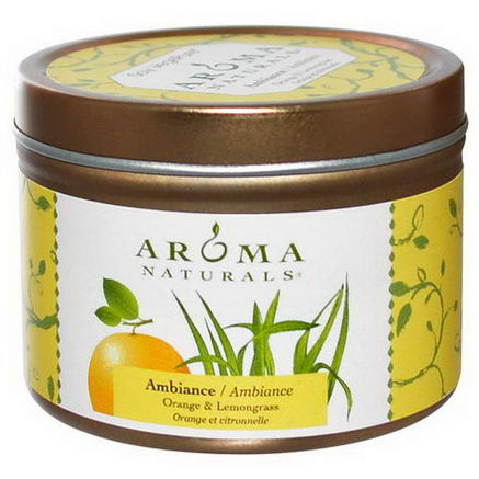Aroma Naturals, Soy VegePure, Ambiance, Orange & Lemongrass, 2.8oz (79.38g)