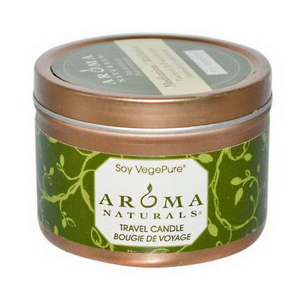 Aroma Naturals, Soy VegePure, Travel Candle, Meditation, Patchouli & Frankincense, 2.8oz (79.38g)