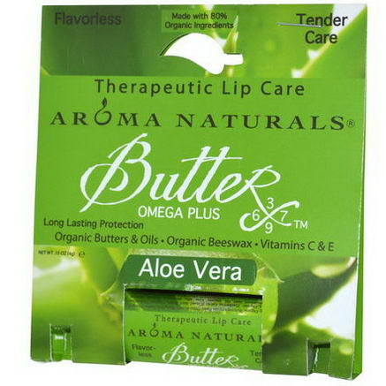 Aroma Naturals, Therapeutic Lip Care, Aloe Vera, 15oz (4g)