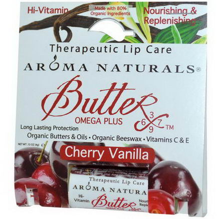 Aroma Naturals, Therapeutic Lip Care, Cherry Vanilla, 15oz (4g)
