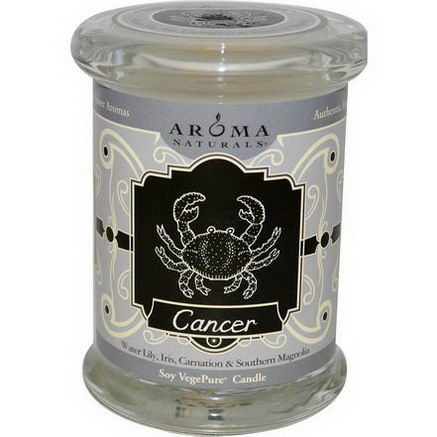 Aroma Naturals, Zodiac, Soy VegePure Candle, Cancer, 6oz (180g)