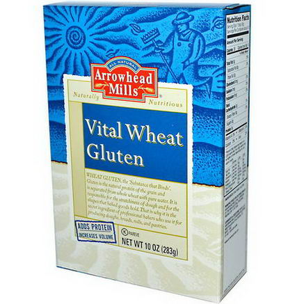 Arrowhead Mills, Vital Wheat Gluten, 10oz (283g)