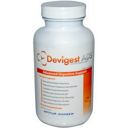 Arthur Andrew Medical, Devigest ADS, Advanced Digestive Support, 180 Capsules