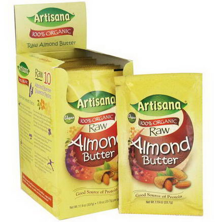 Artisana, 100% Organic Raw Almond Butter, 10 Packets, 1.19oz (33.7g) Each
