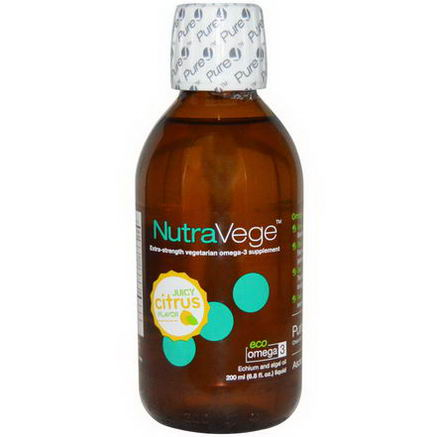Ascenta, NutraVege, Citrus Flavor, 6.8 fl oz (200 ml)