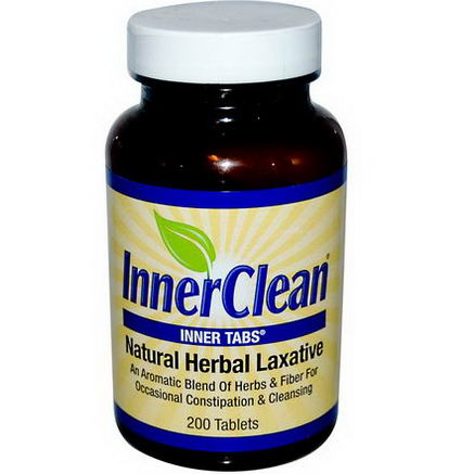 At Last Naturals, InnerClean, Natural Herbal Laxative, 200 Tablets