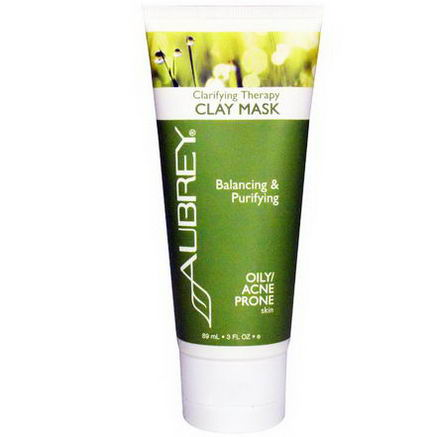 Aubrey Organics, Clarifying Therapy Clay Mask, Oily / Acne Prone Skin, 3 fl oz (89 ml)