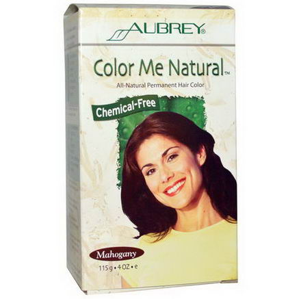 Aubrey Organics, Color Me Natural, 100% Natural Permanent Hair Color, Mahogany, 4oz (115g)