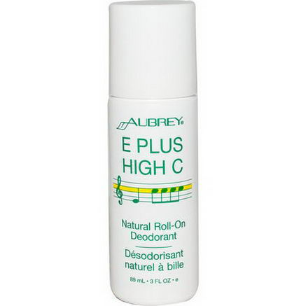 Aubrey Organics, E Plus High C, Natural Roll-On Deodorant, 3 fl oz (89 ml)
