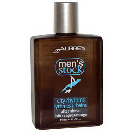 Aubrey Organics, Men's Stock, City Rhythms After Shave, 4 fl oz (118 ml)