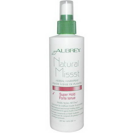 Aubrey Organics, Natural Missst Herbal Hairspray, Super Hold, 8 fl oz (237 ml)