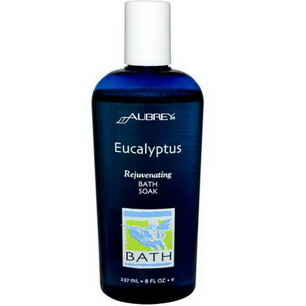 Aubrey Organics, Rejuvenating Bath Soak, Eucalyptus, 8 fl oz (237 ml)