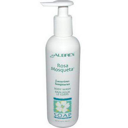 Aubrey Organics, Rosa Mosqueta Body Wash, 8 fl oz (237 ml)