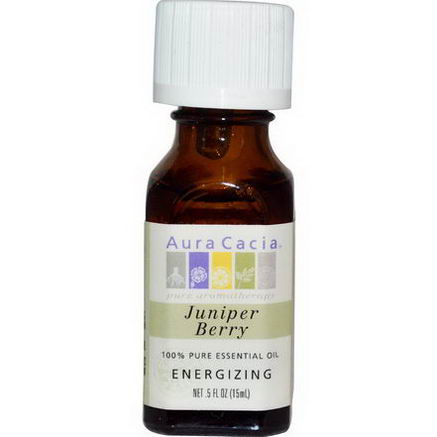 Aura Cacia, 100% Pure Essential Oil, Juniper Berry, 5 fl oz (15 ml)
