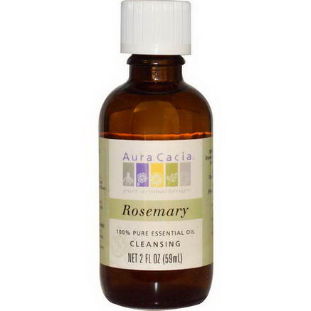 Aura Cacia, 100% Pure Essential Oil, Rosemary, 2 fl oz (59 ml)
