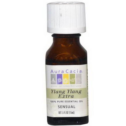 Aura Cacia, 100% Pure Essential Oil, Ylang Ylang Extra, 5 fl oz (15 ml)