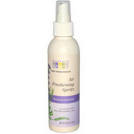 Aura Cacia, Air Freshening Spritz, Relaxing Lavender, 6 fl oz (177 ml)