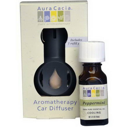 Aura Cacia, Aromatherapy Car Diffuser, Commuter Pack, Peppermint