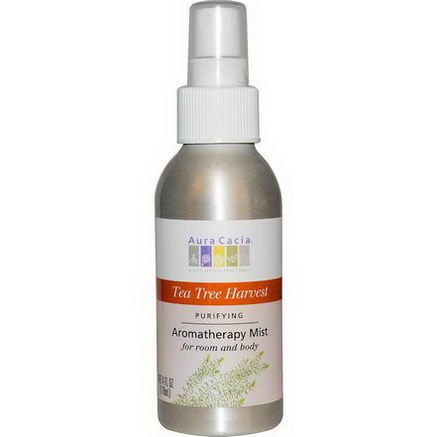 Aura Cacia, Aromatherapy Mist, Tea Tree Harvest, 4 fl oz (118 ml)