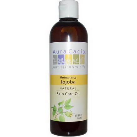 Aura Cacia, Natural Skin Care Oil, Balancing Jojoba, 16 fl oz (473 ml)
