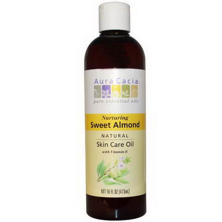 Aura Cacia, Natural Skin Care Oil, Sweet Almond, 16 fl oz (473 ml)