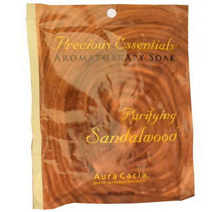 Aura Cacia, Precious Essentials, Aromatherapy Soak, Purifying Sandalwood, 2.5oz (70.9g)