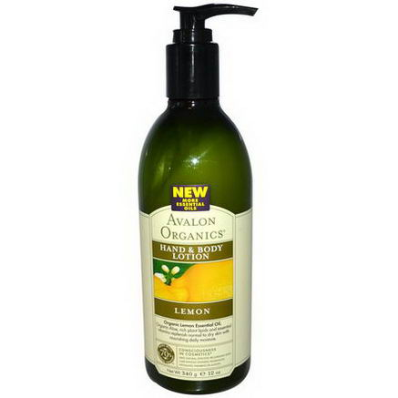 Avalon Organics, Hand & Body Lotion, Lemon, 12oz (340 ml)