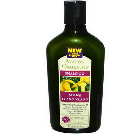 Avalon Organics, Shampoo, Shine Ylang Ylang, 11 fl oz (325 ml)