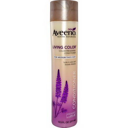 Aveeno, Active Naturals, Living Color, Conditioner, For Medium to Thick Hair, 10.5 fl oz (311 ml)