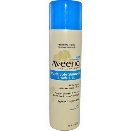 Aveeno, Active Naturals, Positively Smooth Shave Gel, 7.0oz (198g)