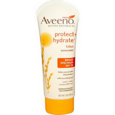 Aveeno, Active Naturals, Protect + Hydrate Lotion, Sunscreen, SPF 70, 3oz (85g)