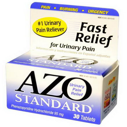 Azo, Standard, Urinary Pain Relief, 30 Tablets