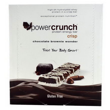 BNRG, Power Crunch, Protein Energy Crisp Bar, Chocolate Brownie Wonder, 12 Bars, 1.5oz (41g) Each