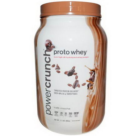 BNRG, Proto Whey, Power Crunch, Cafe Mocha, 2.1 lbs (962g)