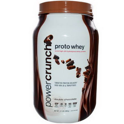 BNRG, Proto Whey, Pure High-DH Hydrolyzed Whey Protein, Double Chocolate, 2.1 lbs (962g)