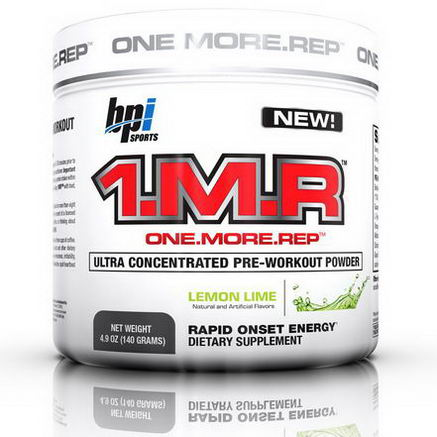 BPI Sports, 1. M. R. Ultra Concentrate Pre-Workout Powder, Lemon Lime, 4.9oz (140g)