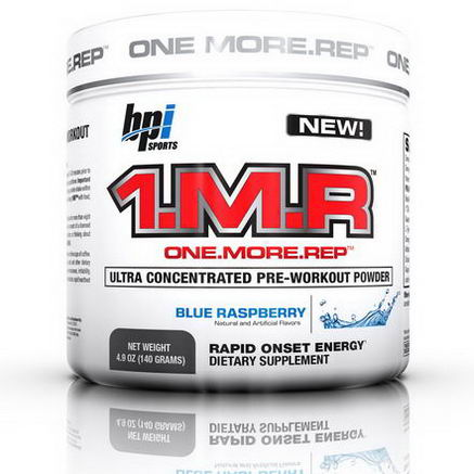 BPI Sports, 1. M. R, Ultra Concentrated Pre-Workout Powder, Blue Raspberry, 4.9oz (140g)