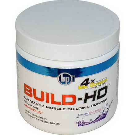 BPI Sports, Build-HD, Automatic Muscle Building Powder, Grape Bubblegum, 4500mg, 5.8oz (165g)