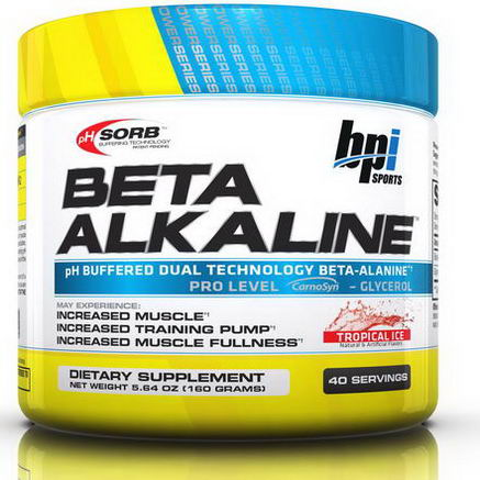 BPI Sports, Clinical PowerSeries, Beta Alkaline, Tropical Ice, 5.64oz (160g)