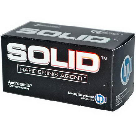 BPI Sports, Solid, Hardening Agent, 100mg, 28 Capsules