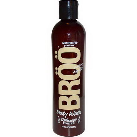 Broo, MicroBroo Presents Body Wash, Oatmeal Porter, Soothing Vanilla, 10 fl oz (296 ml)