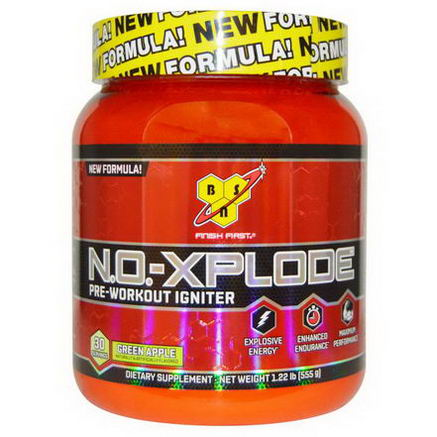 BSN, N. O. -Xplode, Pre-Workout Igniter, Green Apple, 1.22 lbs (555g)