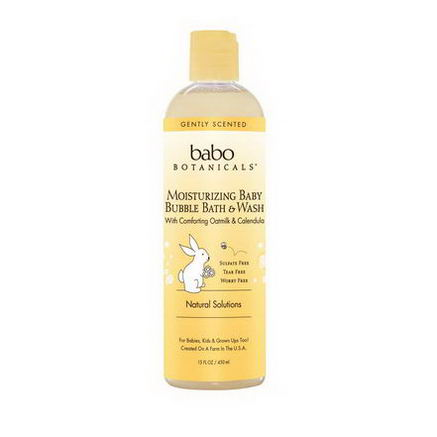 Babo Botanicals, Moisturizing Baby Bubble Bath & Wash with Comforting Oatmilk & Calendula, 15 fl oz (450 ml)
