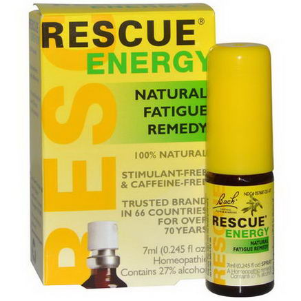 Bach Original Flower Essences, Rescue Energy, Natural Fatigue Remedy, 0.245 fl oz (7 ml)