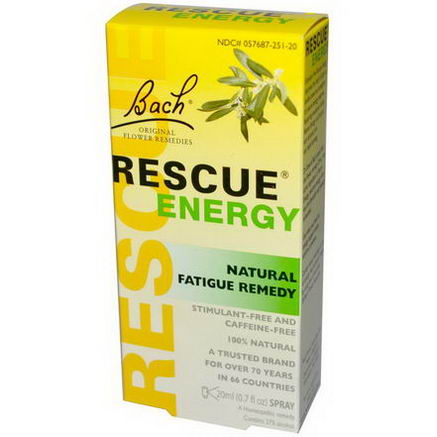 Bach Original Flower Essences, Rescue Energy, Natural Fatigue Remedy, 0.7 fl oz (20 ml)